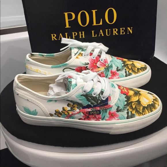 Polo Ralph Lauren Floral Sneaker Size